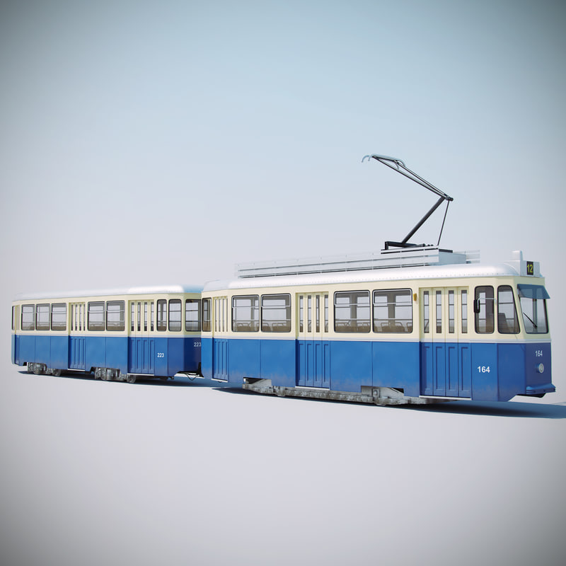 tmk 101 tram 3d model