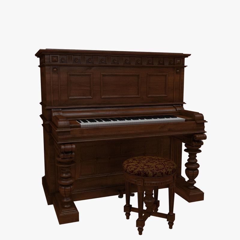 3dsmax victorian piano