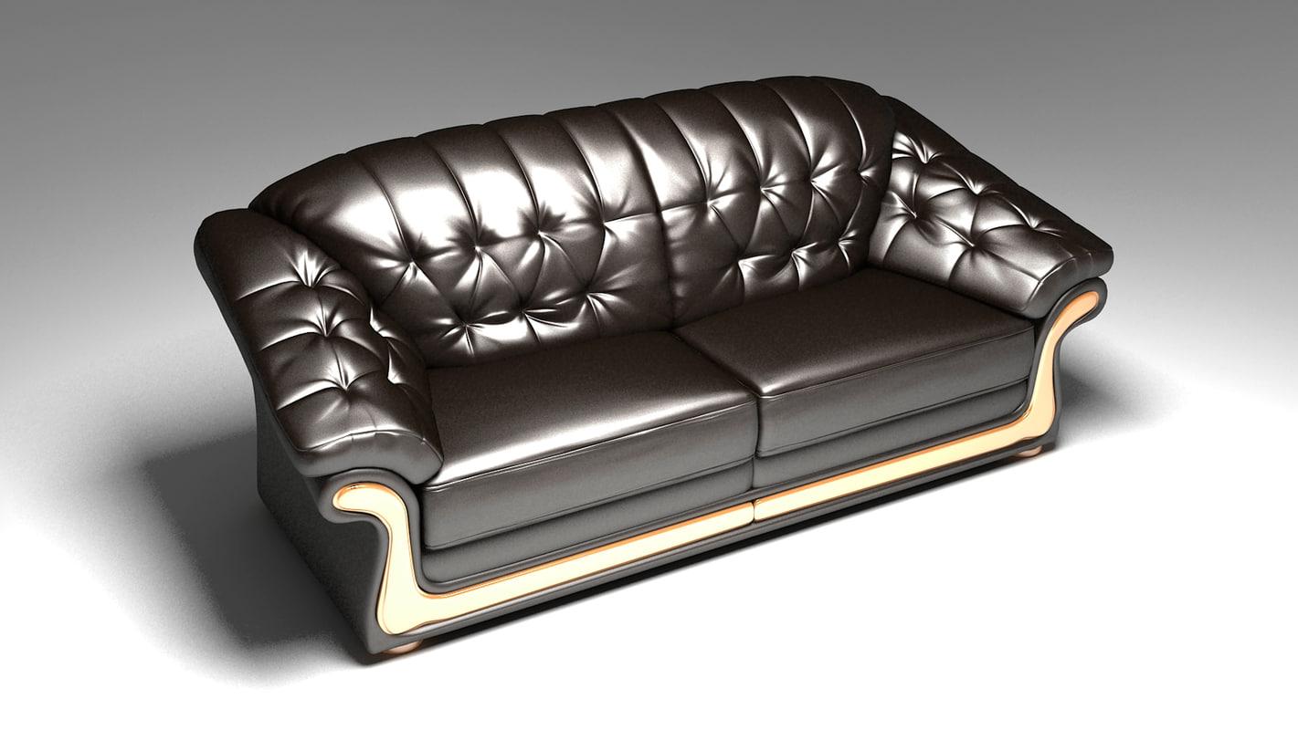 max photorealistic sofa