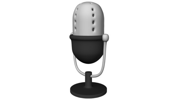 old school microphone 3d ma