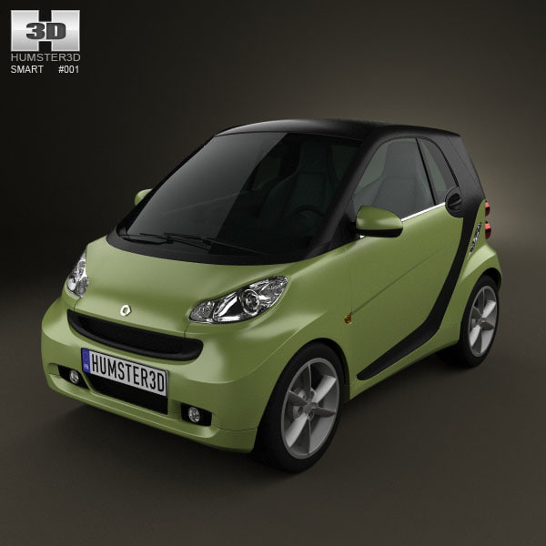 smart fortwo 2011 3d 3ds