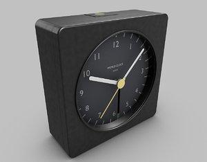 3d model travel alarm clock