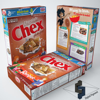 chocolate chex cereal box 3d 3ds