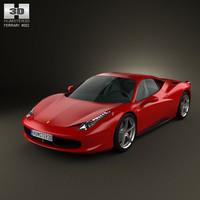 3d ferrari 458 italia model