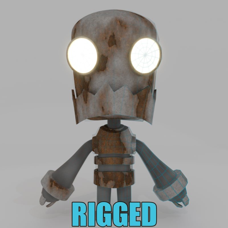 fun character rigged blend