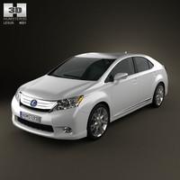 3d model lexus hs 2010