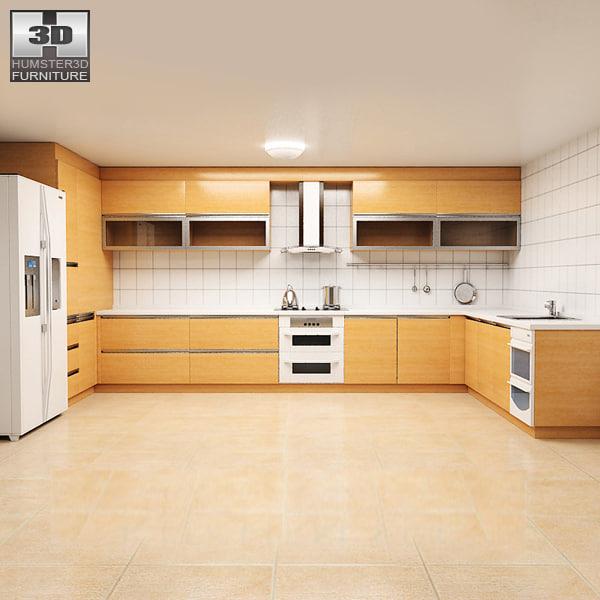 3d model kitchen set p1
