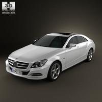 3d model mercedes-benz cls 2011
