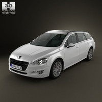 3d peugeot 508 cars sw model