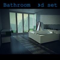 3ds bathroom set