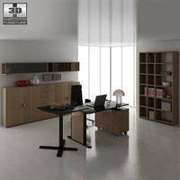 office set p12 desk chair 3d model