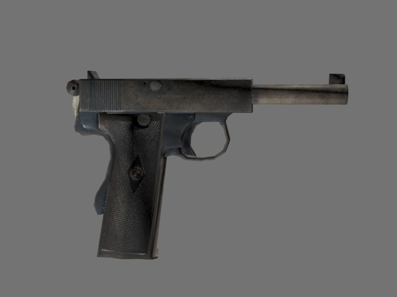 bergmann mg15 browning 3d model