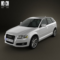 3d audi a3 sportback model