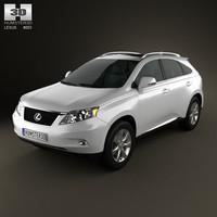 3d model lexus rx 2010