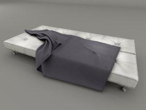 3d model damier sofa