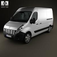3d model renault master panelvan