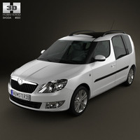 skoda 2011 roomster 3d model