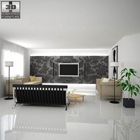 home theater set 02 3d 3ds