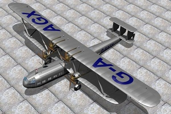 3d imperial handley page hp42 model