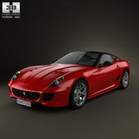 3d ferrari 599 gto model
