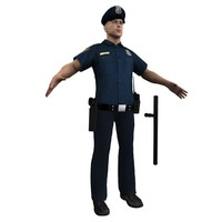police officer 3d max