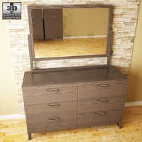 3d ashley sonya dresser mirror model