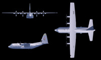 Lockheed Hercules C130 Cinema 4D R10.5 with textures