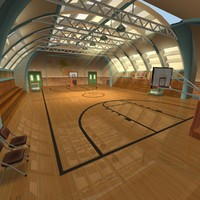 3dsmax recreation center basketball court