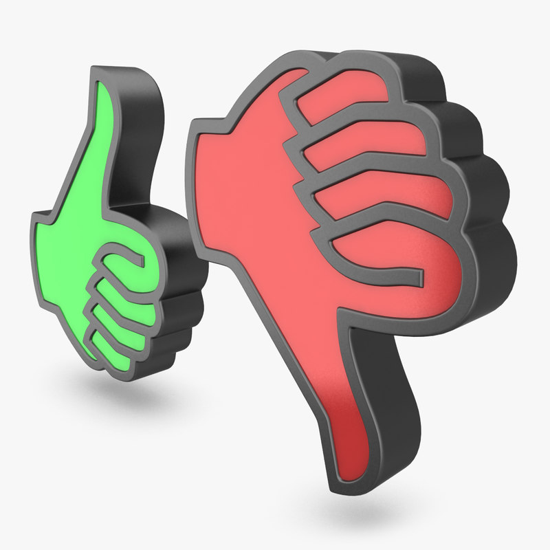 3d thumbs icons 1 model