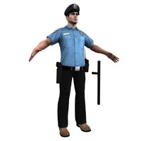 3ds max police officer