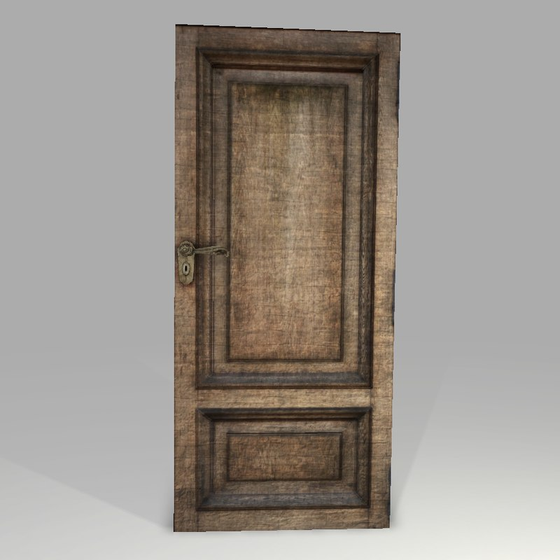 3d model highpoly old wooden door for Door 3d model
