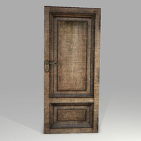 3d model highpoly old wooden door