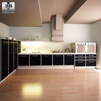 3d model kitchen set i2