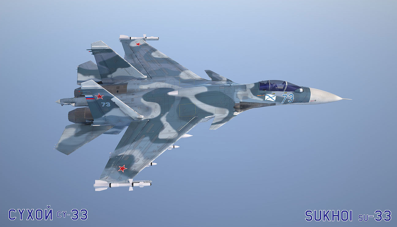 su 33 aircraft 5 c4d