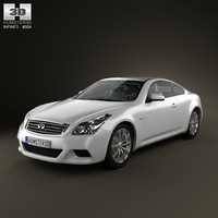 infiniti g37 coupe sports 3d model