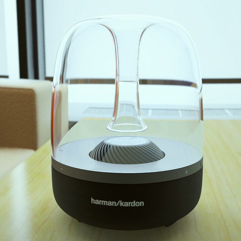 3ds max photoreal speaker harman kardon