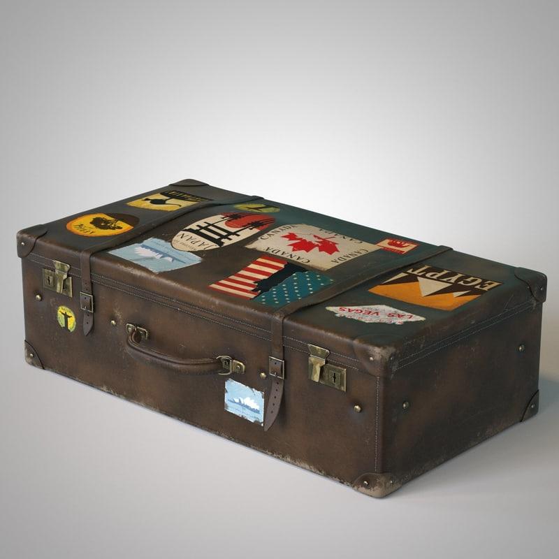 travel suitcase 3d model
