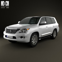 3d lexus 570 lx model