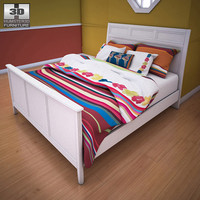 ashley caspian panel bed furniture 3d model