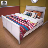 ashley caspian panel bed furniture 3d model