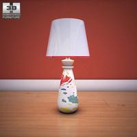 3d ashley mell table lamp