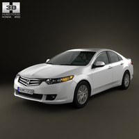 honda accord sedan 3d c4d