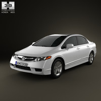 honda civic sedan 3d model