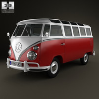 volkswagen transporter t1 3d model