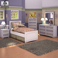 ashley sandhill panel bedroom 3d max