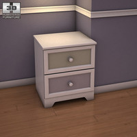 3d ashley sandhill nightstand model