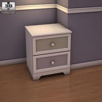 3d ashley sandhill nightstand model