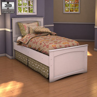 ashley sandhill panel bed furniture 3d model
