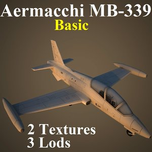 aermacchi basic aircraft 3d model