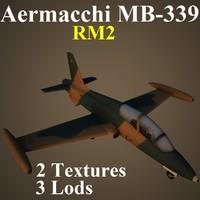 3d aermacchi rm2 aircraft model
